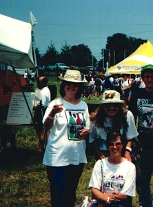 The Three Musketeers at the Virginia Wine Festival in 1994-ish.