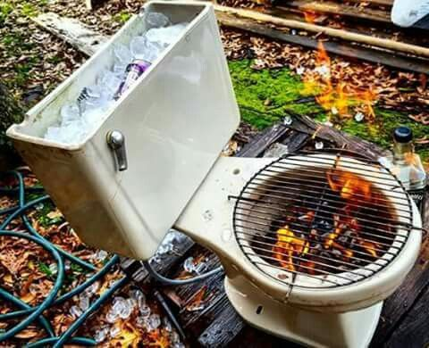 toilet barbecue